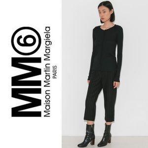 MM6 Maison Margiela Seamed Long Sleeve in Black.